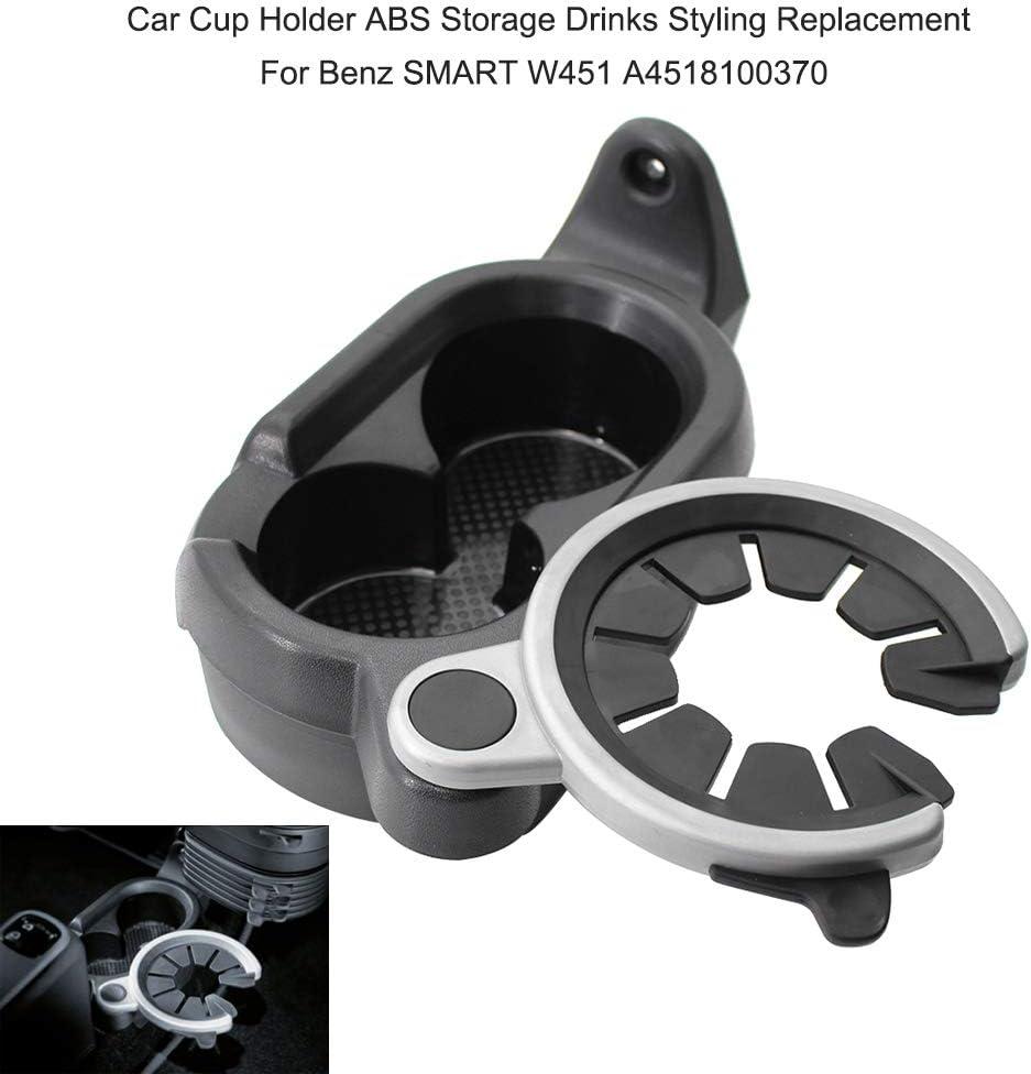 KKmoon Porte-gobelet de Voiture Bo/îte de Rangement de la Console Centrale Remplacement pour Ben-z Smart W451 A4518100370
