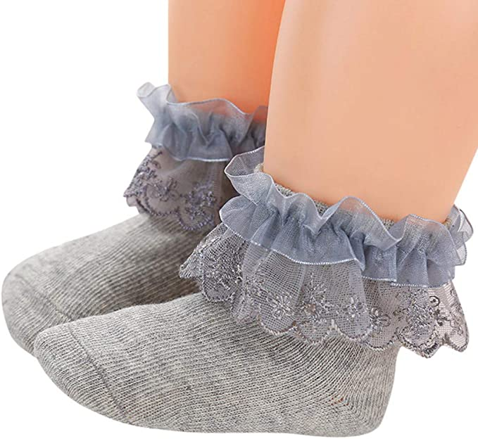 Goldweather Toddler Baby Slippers Ankle Socks Soft Comfortable Lace Ruffles Cute Cotton Socks
