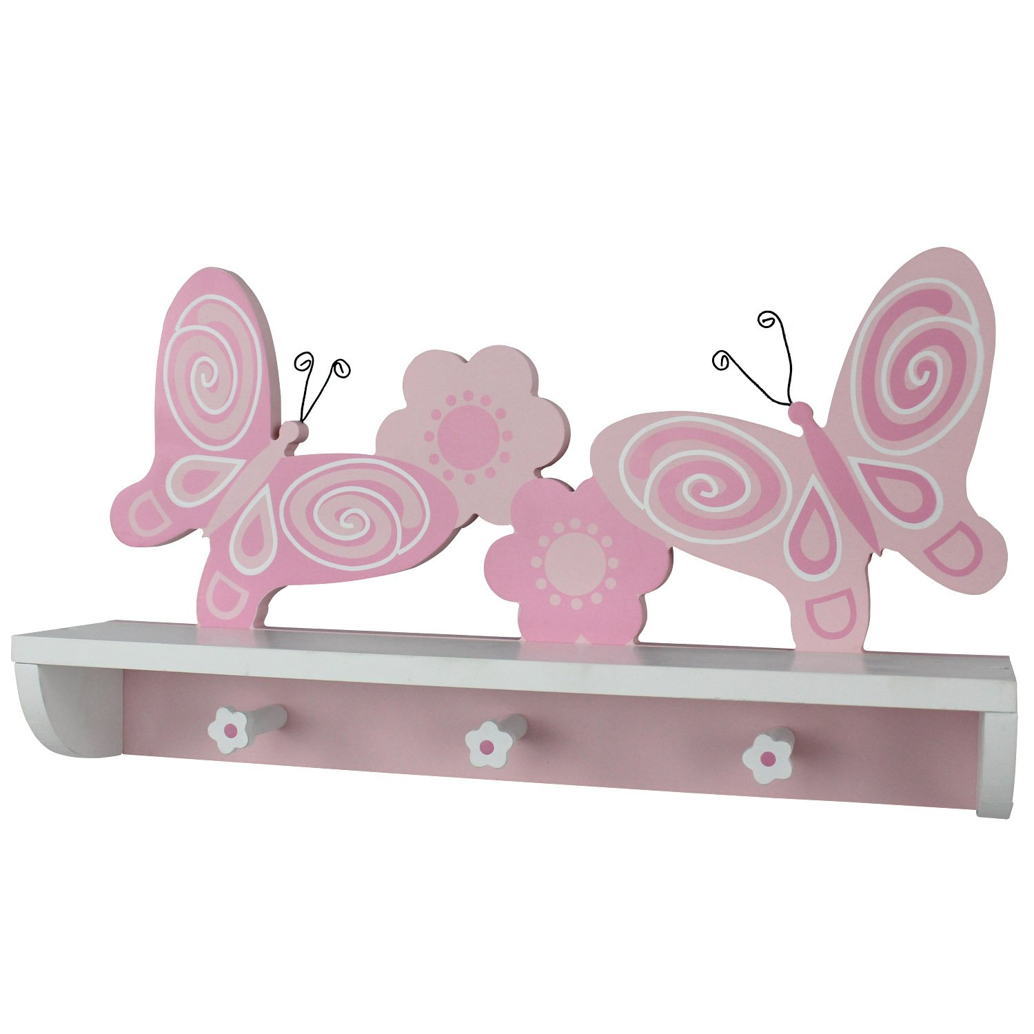 Hoddmimis wall shelf coat hooks children wooden decorative purple op bcr uxx ebay - Kids decorative wall hooks ...
