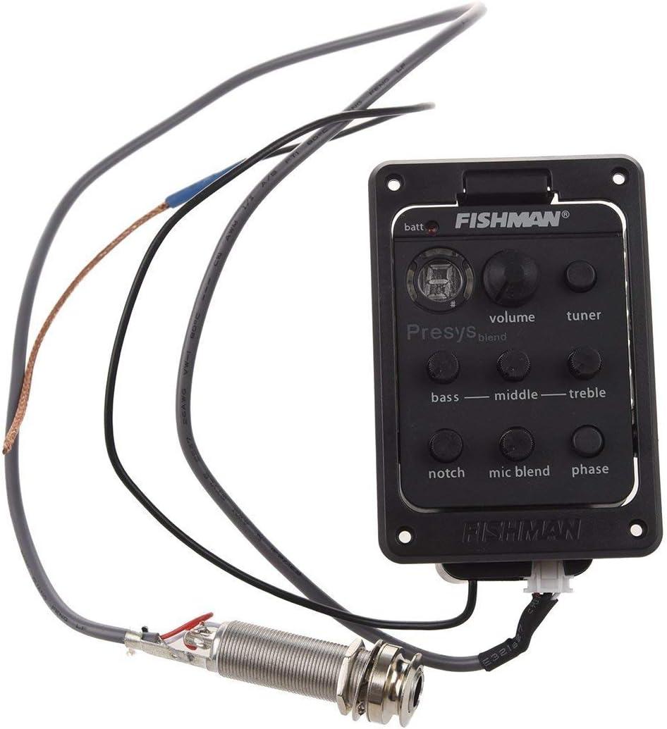 Onboard Preamp - Accesorio acústico para guitarra y preamplificador para guitarra acústica, color negro