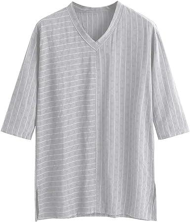 ZODOF Camisas Hombre Otoño Suelto Lino Moda Casual Diario Impreso Slim fit Manga Larga Camisa Tops Blusa: Amazon.es: Ropa y accesorios