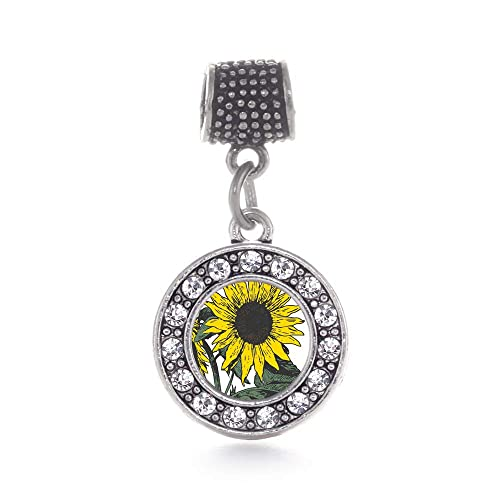 9814ac4d4 Amazon.com: Inspired Silver - Sunflower Memory Charm for Women ...