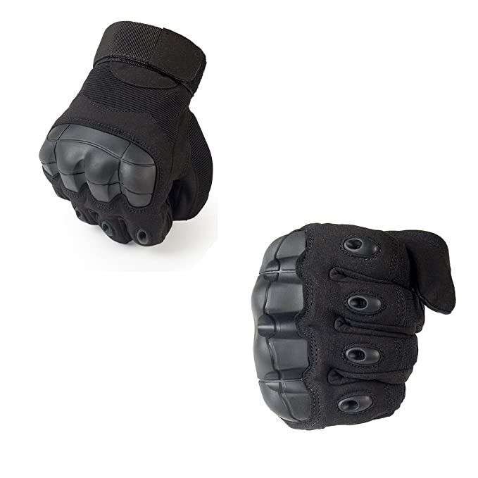 iMeshbean Military Rubber Hard Knuckle Tactical Gloves Full Finger Cycling Motorcycle Gloves