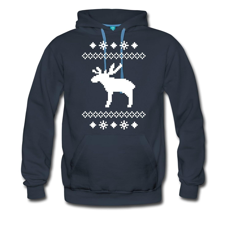 Elch Weihnachten Norwegen Männer Premium Kapuzenpullover von Spreadshirt®