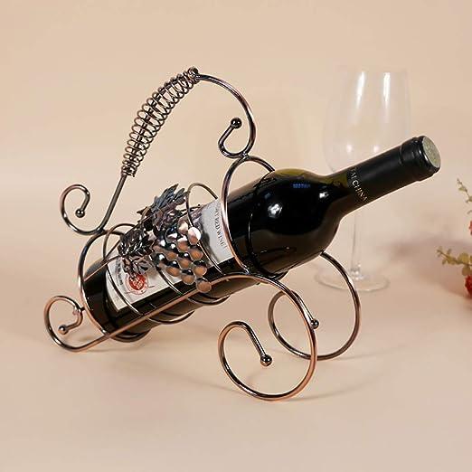 Soporte de exhibición del estante del vino del hierro labrado ...