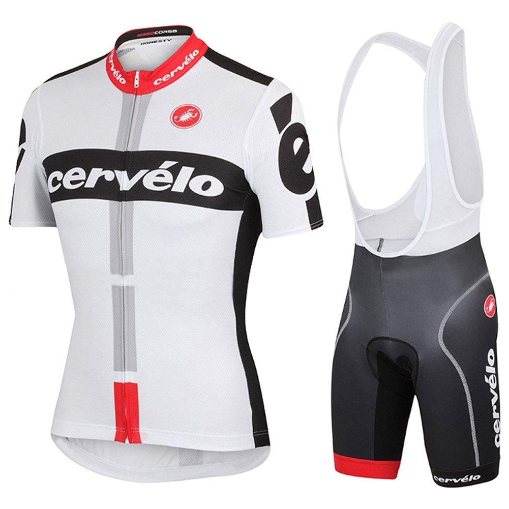 Strgao 2016 Men's Pro Racing Team MTB bike Bicycle Cycling Short Sleeve Jersey and Bib shorts Set Suit strago