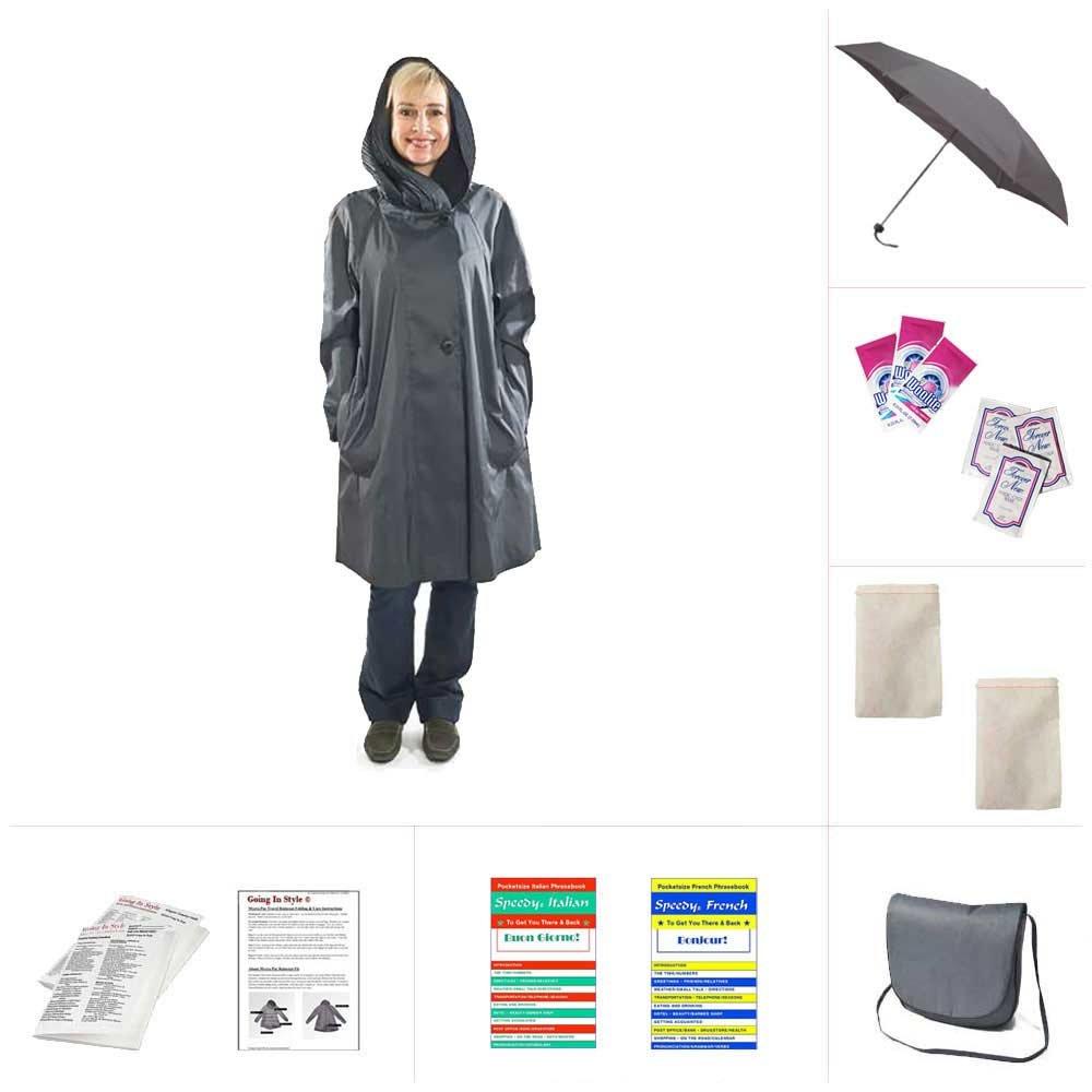 Mycra Pac Short Donatella Fashion Travel Raincoat