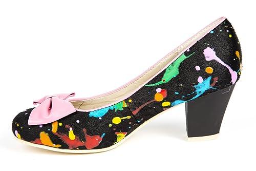 154b8a32625 Lola Ramona - Zapatos de vestir de Piel Lisa para mujer negro negro ...