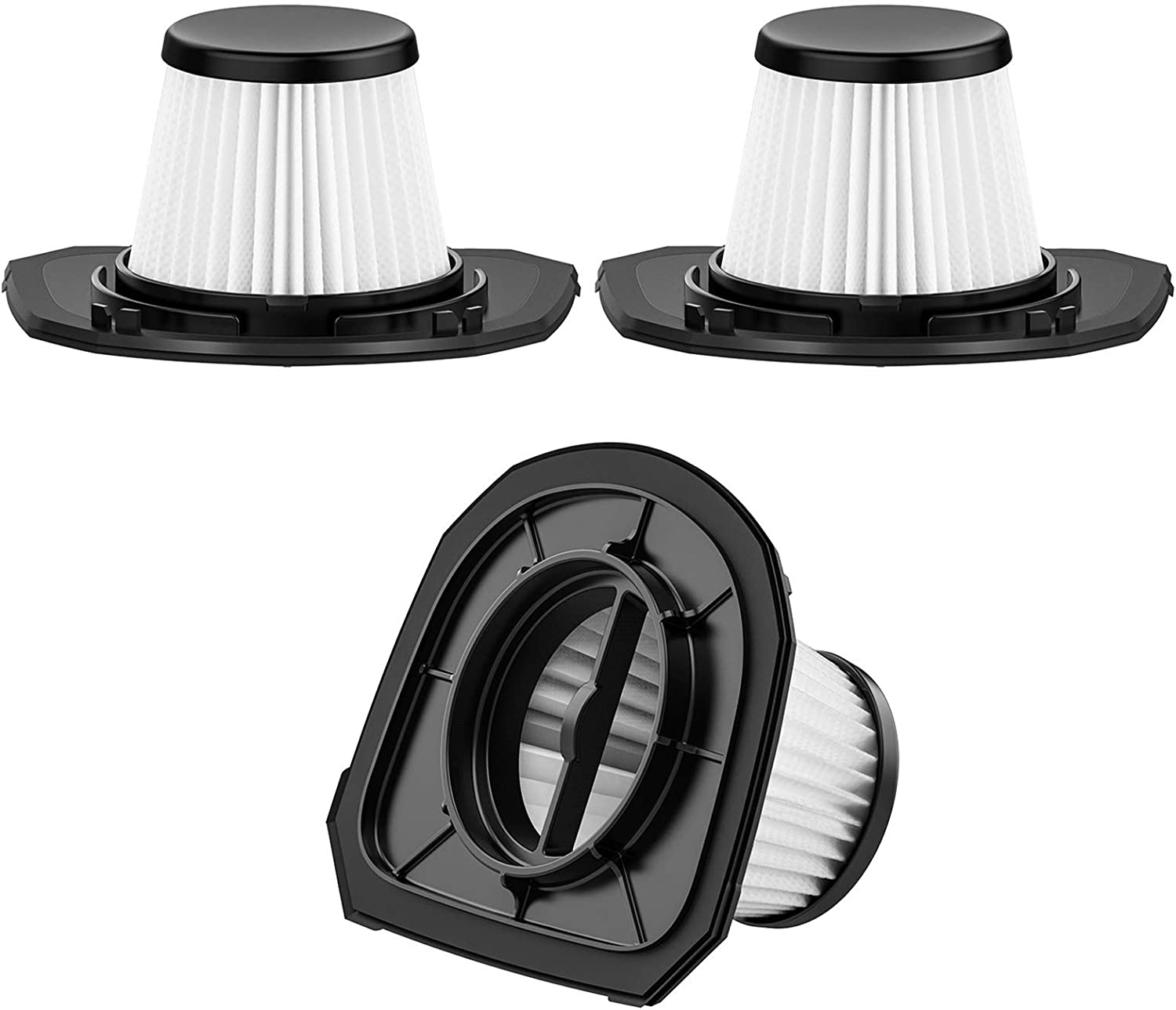 Holife Replaceable Filters for Cordless Handheld Vacuum Cleaner, Washable and Reusable, 3 Pack Vacuum Filters (Model: HM218B)