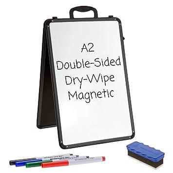 Cuña pizarras blancas - A2 - Borrado en seco magnético doble ...