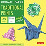 ": Origami Paper - Traditional Prints - 8 1/4"" - 49 Sheets: Tuttle Origami Paper: High-Quality Large Origami Sheets Printed with 6 Different Patterns: Instructions for 6 Projects Included"
