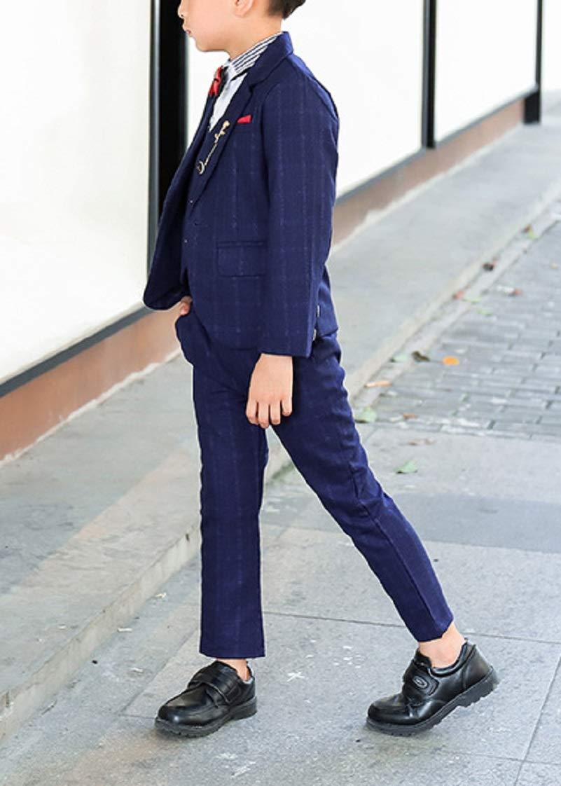 DGMJDFKDRFU Kids Suits for Boys Slim Fit for Wedding Formal Big Boy Dresswear Set for Christmas HTXZ005