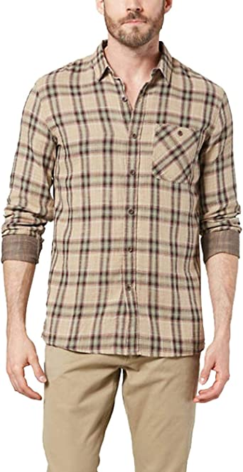 dockers Camisa Double Weave Brosnan Beige: Amazon.es: Ropa y accesorios