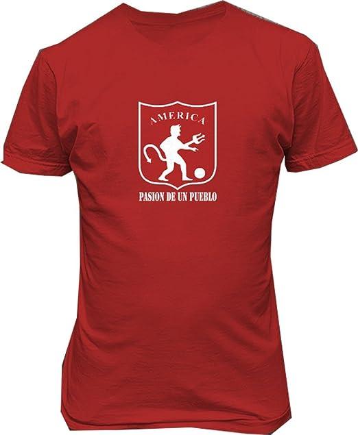 America de Cali Colombia Futbol T Shirt Camiseta pasion de Un pueblo (small)