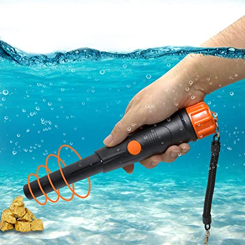 Wedigout Pinpointer Metal Detector Fully Waterproof Portable Metal Detector for Adults Kids with LED Indicator Detector Vibration Beep and Woven Holster Black