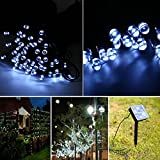 Ucharge S100-1 Outdoor Solar String Lights Christmas Led Lights 39ft 100led Waterproof for Patio, Garden, Homes, Holiday, Party, Indoor, Outdoor, Wedding Decorations (White)