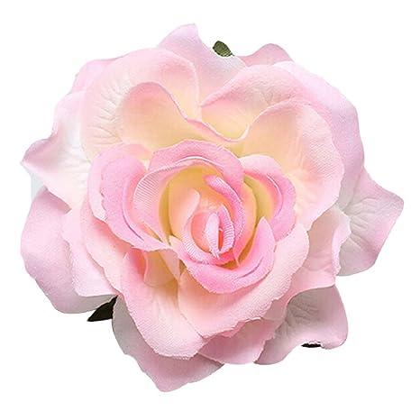Buy light pink geminimall pink rose fabric hair flower clip hair light pink geminimall pink rose fabric hair flower clip hair pins corsage brooch wedding bridal mightylinksfo