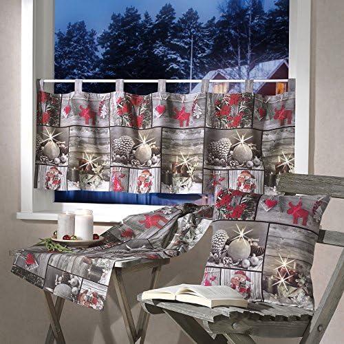 heimtexland Navidad Serie fotográfico Patchwork Visillo Camino de Mesa de impresión Funda de cojín Navidad Ökotex typ498: Amazon.es: Juguetes y juegos