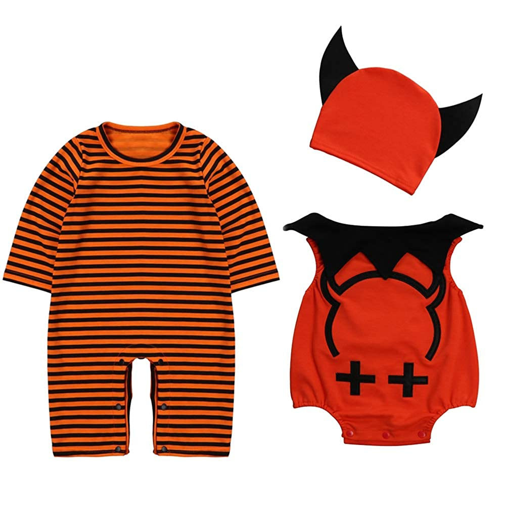 Le SSara Baby Devil /& Vampire Halloween Bodys Newborn Body Kost/üm Outfits 3pcs