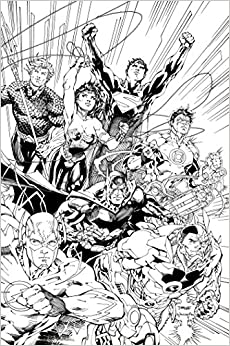 Justice League An Adult Coloring Book Dc