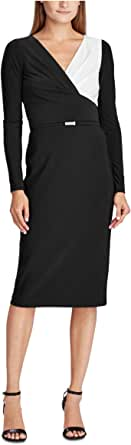 LAUREN RALPH LAUREN Petite Two-Tone Jersey Dress