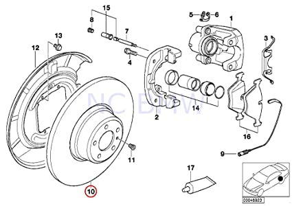 Amazon Com Bmw Genuine Brake Disk Automotive