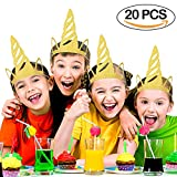 Unicorn Party Hats 20PCS Glitter Gold Unicorn Horn Hats Party Decorations for Kids Unicorn Party Supplies