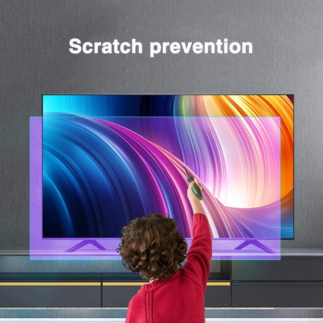 LED BYCDD 50 Inches TV Screen Protector Anti-Blue Light Non-Glare Ultra-Clear Eye Protection Screen Filter for LCD OLED /& QLED 4K HDTV,B