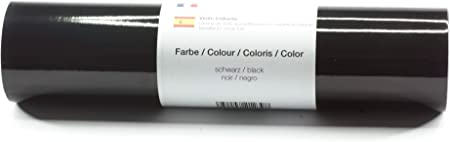 Lámina de plotter autoadhesiva lámina de vinilo 21 cm x 3 m brillo 39 colores a elegir, Glänzend L-Serie:Negro: Amazon.es: Hogar