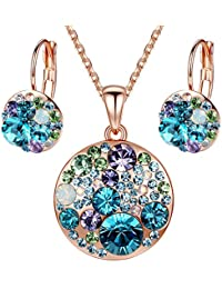 Ocean Bubble Women's Jewelry Set Made with Swarovski...