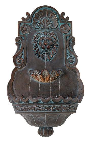 Lion Head Bronze 31 1/2u0026quot; High Indoor Outdoor Fountain
