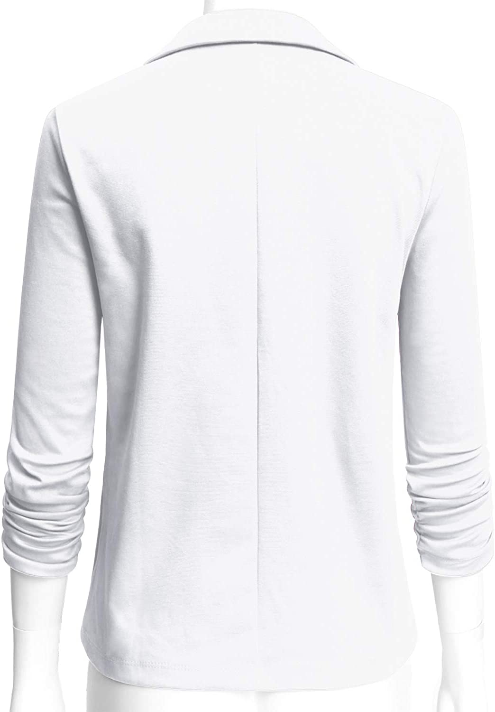 Size S~3XL ELF FASHION Womens Casual Work Office Blazer Jacket with Plus Size