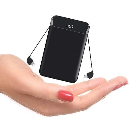 Amazon.com: Cargador de teléfono portátil ultradelgado y de ...