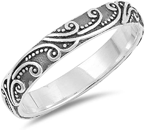 Princess Kylie Oxidized Sterling Silver Loving Rose Ring