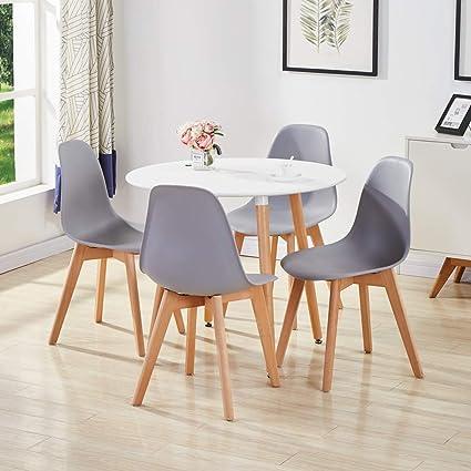 GOLDFAN Ensemble de Salle à Manger avec Table et chaises ...