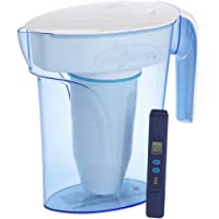 ZeroWater 7 Cup ZP-007RP 1.7 Litre Blue Water Filter Jug | Fridge Door Design with 5 Stage Filtration System, Water Filter Cartridge Included