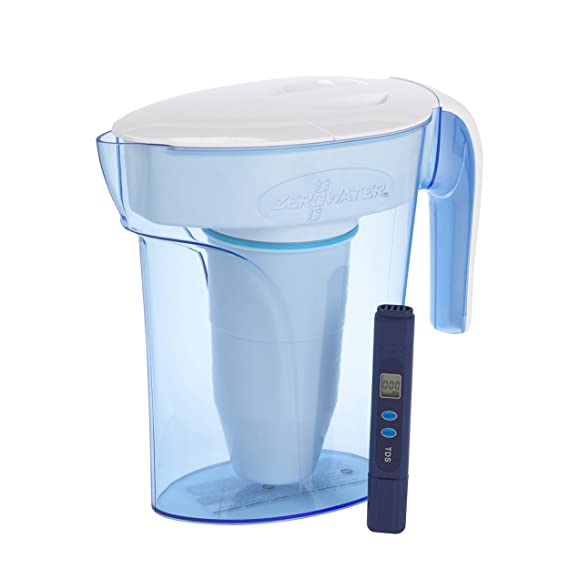 1c76ceb3c1f ZeroWater 7 Cup ZP-007RP 1.7 Litre Blue Water Filter Jug