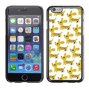 Be Good Phone Accessory // Dura Cáscara cubierta Protectora Caso Carcasa Funda de Protección para Apple Iphone 6 // puppy dachshund dog pet mustard white