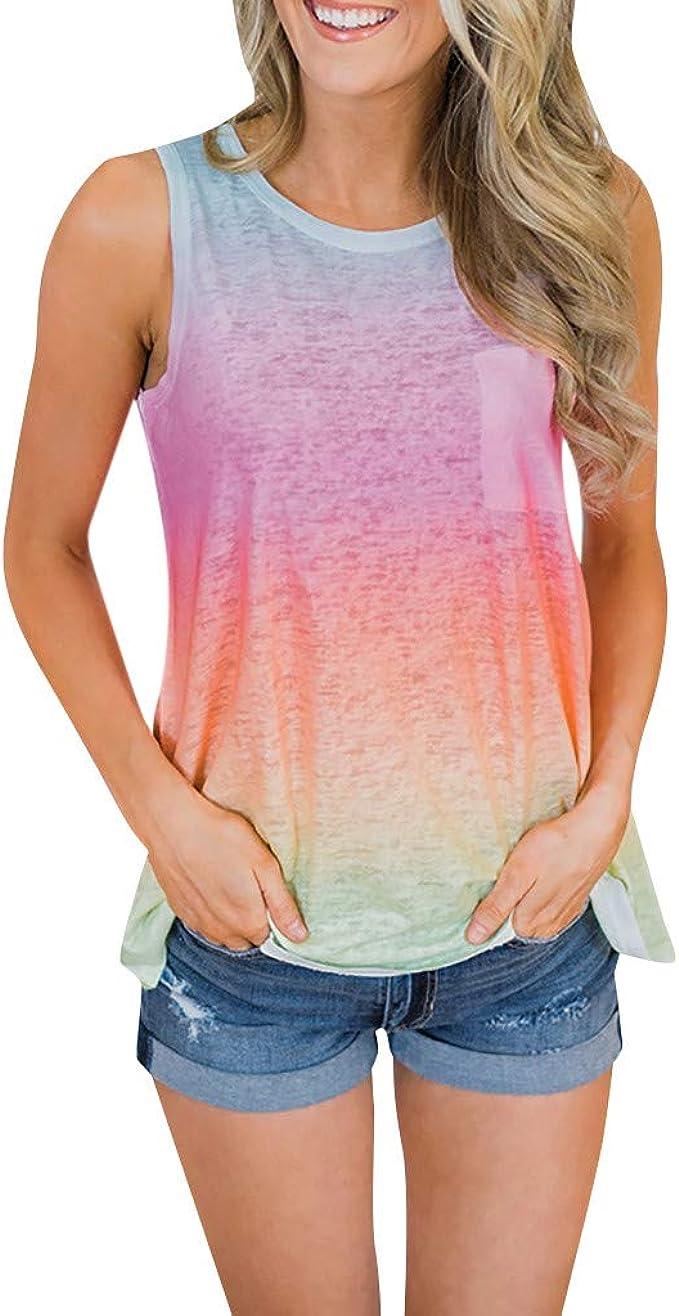Luckycat Camisetas de Tirantes para Mujer, Mujeres Sexy de Hombros ...