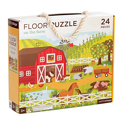 Petit Collage Floor Puzzle, On The Farm, 24 Pieces (Best Sites In Kyoto)