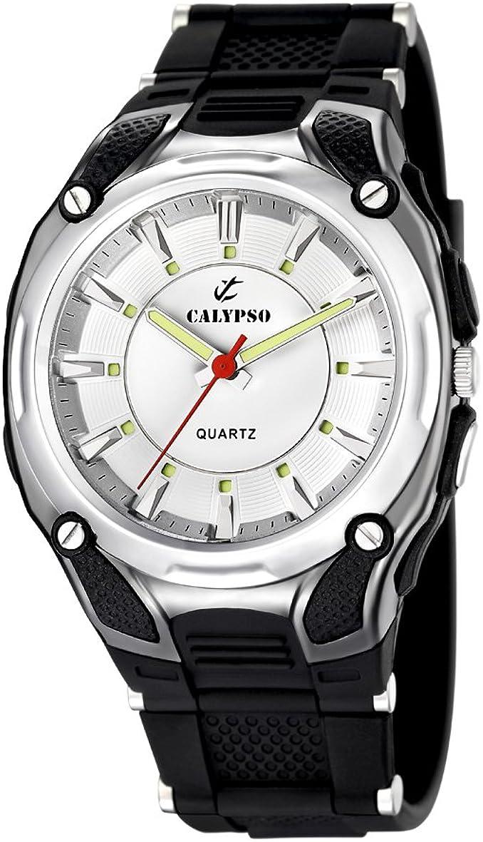 Calypso 5560/1 - Reloj de Caballero de Cuarzo, Correa de Goma Color Negro