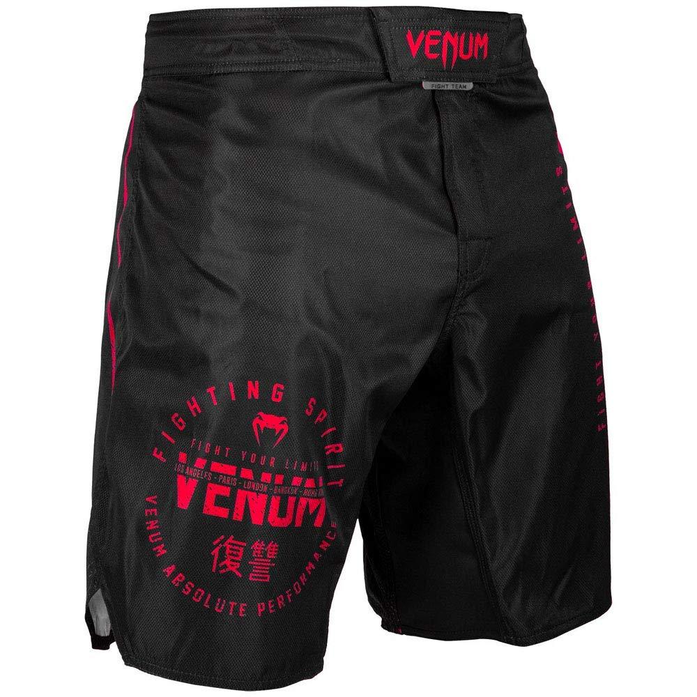 Venum シグネチャー MMA ファイトショーツ ブラック/レッド  Large