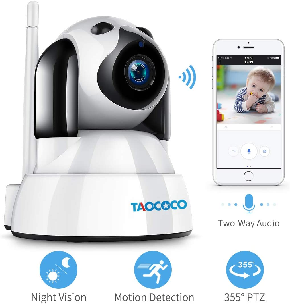 IP Home Security Camera, NexTrend 1080P Pan Tilt Zoom WiFi Surveillance Camera with Night Vision, 2 Way Audio, Motion Detection, Cloud Storage, Indoor Dome Camera with APP for Pet Elder Nanny