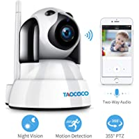 TAOCOCO Dog Camera, Baby Monitor, FHD Pet Camera WiFi IP Dome Camera for 2.4 GHz,…