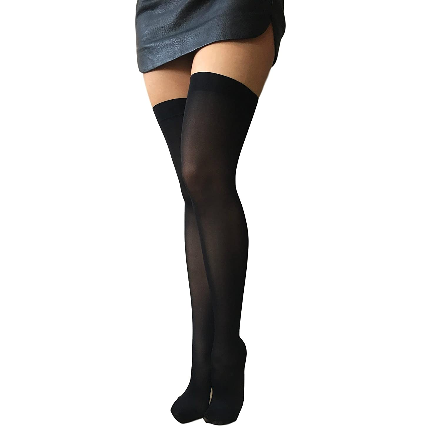cc84058e0af Gipsy 50 Denier Invisible Top Hold Ups Black One Size  Amazon.co.uk   Clothing