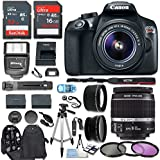 Canon T6 Digital Rebel SLR Camera Kit with EF-S 18-55mm f/3.5-5.6 IS II Lens, 48GB Memory Card, Camera Bag and Premium Accessory Bundle (CERTIFIED REFURBISHED)