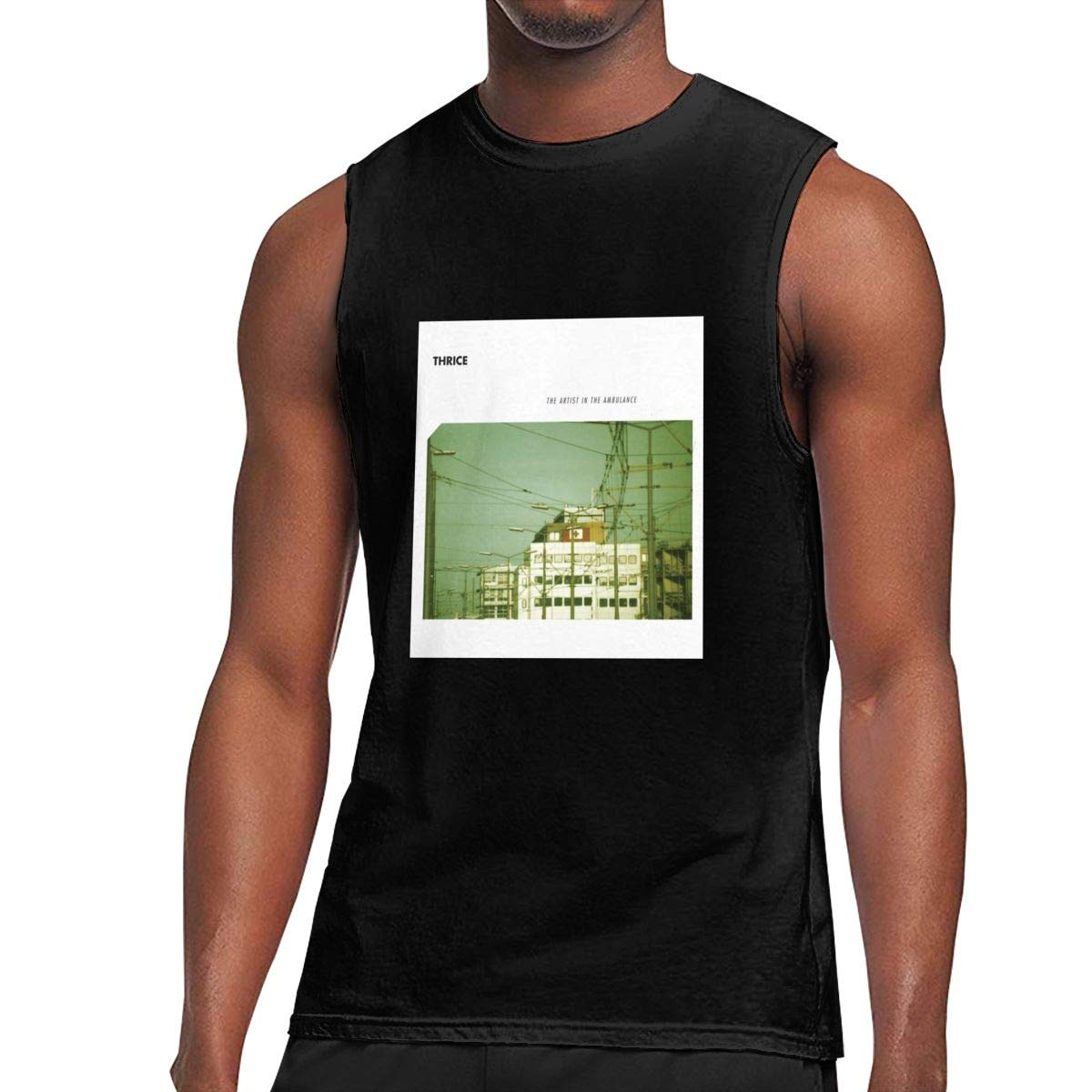 Seuriamin Thrice The Artist In The Ambulance S Funny Athletic Sleeveless Muscle Short Slee