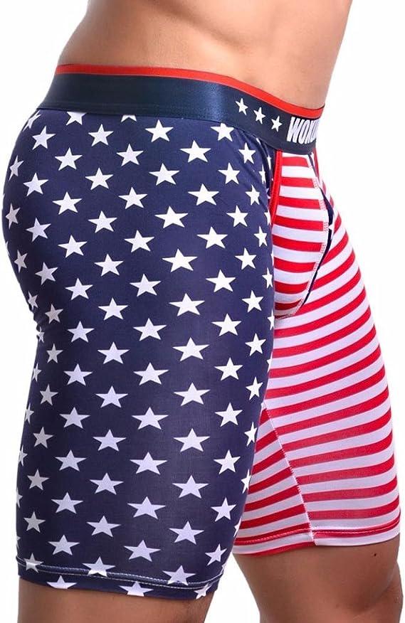 sunfei bandera Sexy rayas ropa interior para hombre Boxer Slip Pantalones Cortos Bolsa de Bulto Calzoncillos: Amazon.es: Jardín
