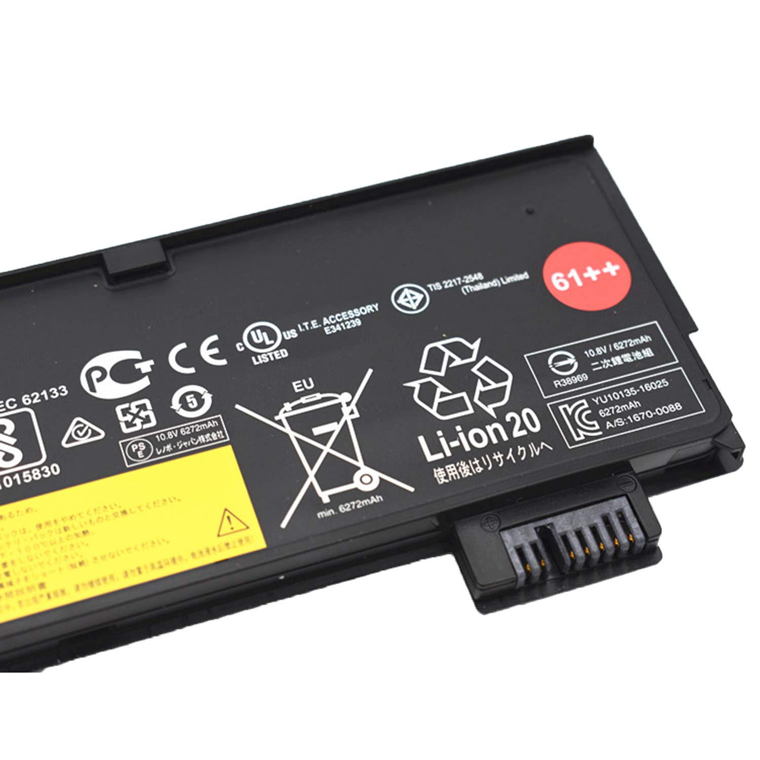 JIAZIJIA Compatible Laptop Battery with Lenovo 01AV427 [10.8V 72Wh 6600mAh 6-Cell] ThinkPad P51S P52S T470 T480 T570 T580 TP25 A475 A485 Series 61++ 01AV428 01AV492 4X50M08812 SB10K97584 SB10K97585 by JIAZIJIA (Image #3)