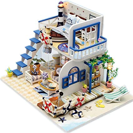 Hearthrousy DIY Puppenhaus Miniatur Haus Selber Bauen Zum ...